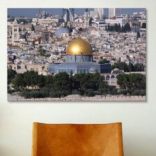 Islamic Dome of the Rock on Temple Mountain, Jerusalem Photographic Print on Canvas