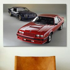 Cars and Motorcycles 1982 Mustang GT Red Photographic Print on Canvas