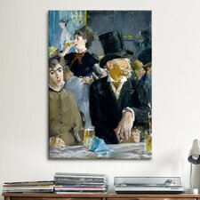'At the Café' by Edouard Manet Painting Print on Canvas