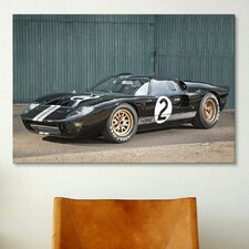 Cars and Motorcycles Ford GT40 Le Mans Race 1966 Photographic Print on Canvas
