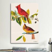 'Cardinal' by John James Audubon Painting Print on Canvas