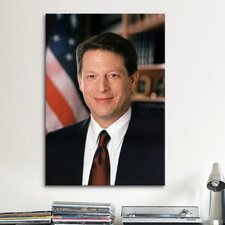 Political Al Gore Portrait Photographic Print on Canvas