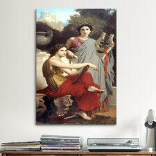 'Art and Literature' by William-Adolphe Bouguereau Painting Print on Canvas