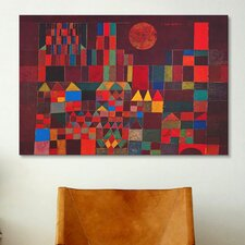 'Castle and Sun' by Paul Klee Painting Print on Canvas