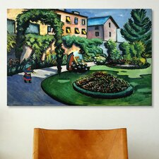 'Garden at Bonn' by August Macke Painting Print on Canvas
