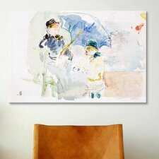 'At the Beach' by Berthe Morisot Painting Print on Canvas
