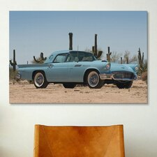 Cars and Motorcycles 1957 Ford Thunderbird Photographic Print on Canvas
