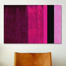 Girls Room Barby Striped Graphic Art on Canvas