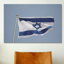 Jewish Israeli Flag Photographic Print on Canvas
