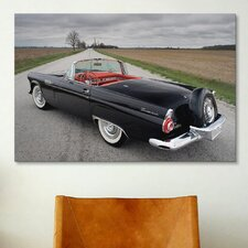 Cars and Motorcycles Ford Thunderbird 1956 Photographic Print on Canvas
