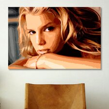 Pop Art Jessica Simpson Painting Print on Canvas