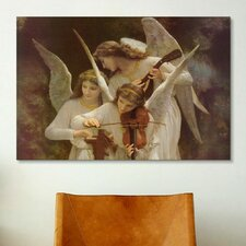 'Angels Playing Violin' by William-Adolphe Bouguereau Painting Print on Canvas