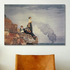 'Fisherman's Family (the Lookout) 1881' by Winslow Homer Painting Print on Canvas