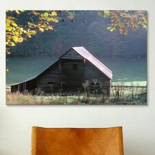 '#54 P Cades Cove Barn' by J.D. McFarlan Photographic Print on Canvas