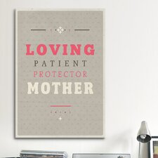 American Flat Loving Mother Textual Art on Canvas