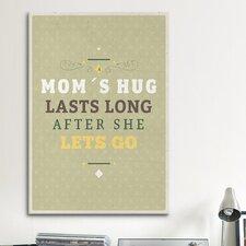 American Flat Moms Hug Textual Art on Canvas