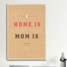 American Flat Home Is Mom Textual Art on Canvas
