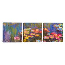 Claude Monet Water Lilies 3 Piece on Canvas Set