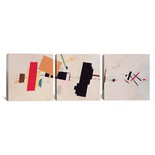 Kazimir Malevich Composition Suprematist 3 Piece on Canvas Set