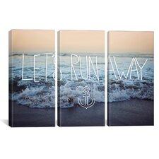 Leah Flores Let's Run Away (Arcadia Beach) 3 Piece on Canvas Set