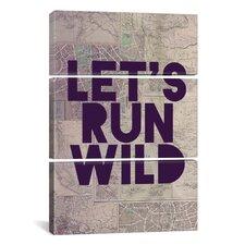 Leah Flores Let's Run Wild 3 Piece on Canvas Set