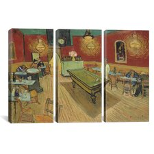 Vincent van Gogh The Night Cafe 3 Piece on Canvas Set
