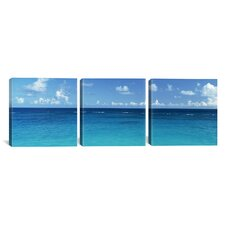 Photography View of The Atlantic Ocean Bermuda 3 Piece on Canvas Set