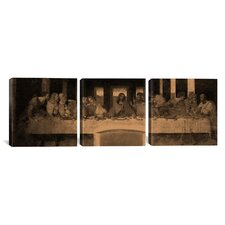 Leonardo da Vinci The Last Supper IV 3 Piece on Canvas Set