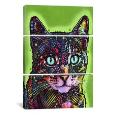 Dean Russo Watchful Cat 3 Piece on Canvas Set