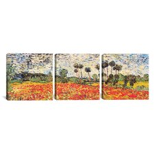 Vincent van Gogh Field of Poppies 3 Piece on Canvas Set