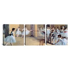 Edgar Degas The Dance Foyer At The Opera 3 Piece on Canvas Set