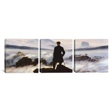 Caspar David Friedrich The Wanderer Above The Sea of Fog 3 Piece on Canvas Set
