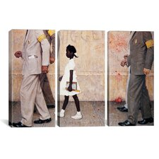 Norman Rockwell The Problem We All Live With (Ruby Bridges) 3 Piece on Canvas Set