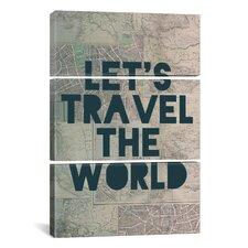 Leah Flores Travel the World 3 Piece on Canvas Set