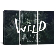 Where the Wild Things Are by Leah Flores 3 Piece on Canvas Set