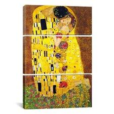 Gustav Klimt The Kiss 3 Piece on Canvas Set