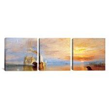J.M.W Turner Fighting Temeraire 3 Piece on Canvas Set