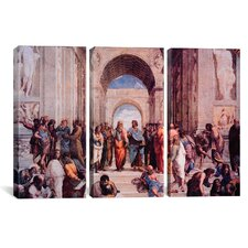 Raphael School of Athens 3 Piece on Canvas Set