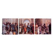 Raphael School of Athens 3 Piece on Canvas Set