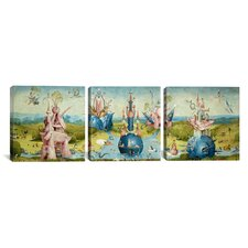 Hieronymus Bosch Top of Central Panel from The Garden of Earthly Delights II 3 Piece on Canvas Set