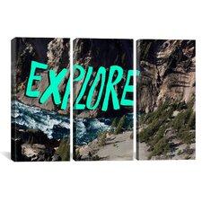 Leah Flores Explore River 3 Piece on Canvas Set