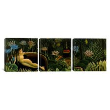 Henri Rousseau The Dream 3 Piece on Canvas Set