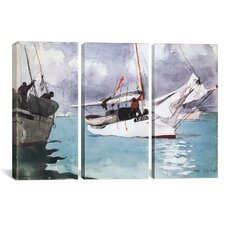 Winslow Homer Fishing Boats and Key West 3 Piece on Canvas Set