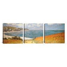 Claude Monet Path Through The Corn At Pourville 3 Piece on Canvas Set