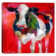 'Cow' by Richard Wallich Graphic Art on Canvas