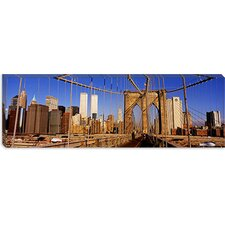 <strong>iCanvasArt</strong> Brooklyn Bridge Manhattan New York Canvas Wall Art