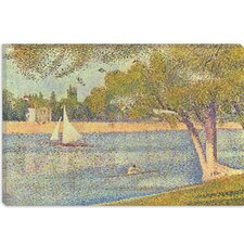 "<strong>iCanvasArt</strong> ""Banks of Seine 1888"" Canvas Wall Art by Georges Seurat"