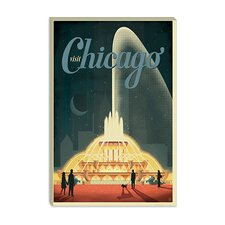 <strong>iCanvasArt</strong> Buckingham Fountain - Chicago, Illinois Canvas Wall Art