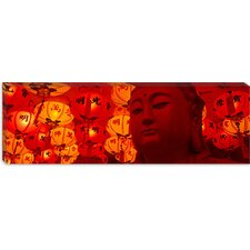 Buddha Statue Panoramic Photographic Print on Canvas