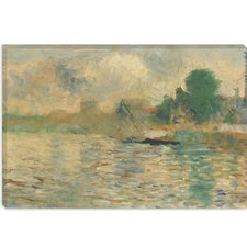 "<strong>iCanvasArt</strong> ""Berge De La Seine 1884"" Canvas Wall Art by Georges Seurat"